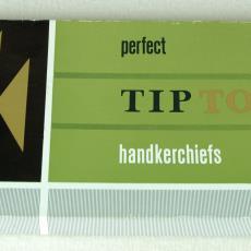 Tiptop-zakdoeken in doosje - Textielmuseum (registratiefoto), Swan (toegeschreven), Textielmuseum (registratiefoto)