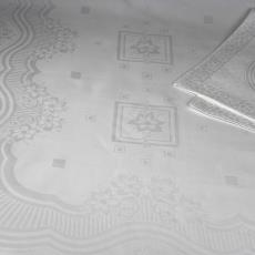 Damasten tafelgoed met bloemenmotief in cartouche - Textielmuseum (registratiefoto), A. Alberts, Nico ter Kuile