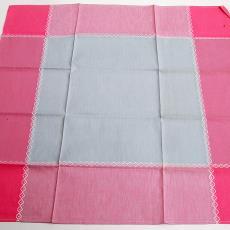 Klein tafelkleedje in grijs-roze - Textielmuseum (registratiefoto), Nico ter Kuile, Erica de Ruiter