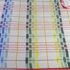 Droogdoek met veelkleurig strepenpatroon - Textielmuseum (registratiefoto), Nico ter Kuile, Erica de Ruiter