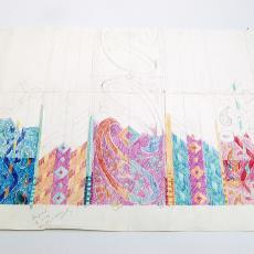 Ontwerp voor Seahorse badhanddoeken 'Paisley' - Textielmuseum (registratiefoto), Textielmuseum (registratiefoto), Textielmuseum (registratiefoto), Annet Haak, Textielmuseum (registratiefoto), Textielmuseum (registratiefoto), Textielmuseum (registratiefoto), Textielmuseum (registratiefoto), Textielmuseum (registratiefoto), Sand Studio (Amsterdam), Textielmuseum (registratiefoto), Liset van der Scheer, Textielmuseum (registratiefoto), Ten Cate Houstex (Almelo)