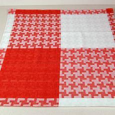 'Boute handdoek, Fonteindoek rood-witte kruizen' (dessin 420) - Kitty van der Mijll Dekker (Fischer-), Linnenfabrieken E.J.F. van Dissel & Zonen (Eindhoven), Textielmuseum (registratiefoto)