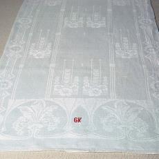Handdoek met art-decomotief - onbekend, Textielmuseum (registratiefoto)