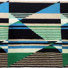 Tapijtstaal met felgekleurd dessin - Textielmuseum (registratiefoto), Lenie Hoos, Storck van Besouw Interior (Goirle)