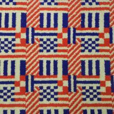 Staal 'Koningshuis' voor projecttapijt VIProom Schiphol (13701/4) - Textielmuseum (registratiefoto), Lenie Hoos, Storck van Besouw Interior (Goirle)
