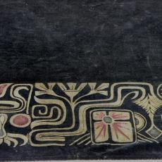 Schoorsteenkleed met gestileerde motieven in art-nouveaustijl - Textielmuseum (registratiefoto), onbekend