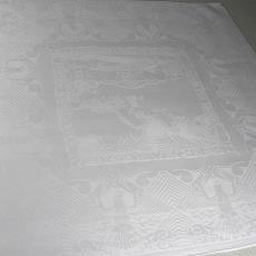 'Gedenk-Damast, vervaardigd ter herinnering aan de Holland-Indië-Vlucht' - Textielmuseum (registratiefoto), Koninklijke Weverij Van Dijk (Eindhoven), Textielmuseum (registratiefoto), André Vlaanderen, Textielmuseum (registratiefoto), Textielmuseum (registratiefoto)