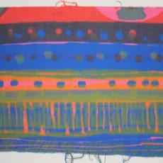 Gordijn- of kledingstof 'Mexico' - Textielmuseum (registratiefoto), Het Paapje (Voorschoten)