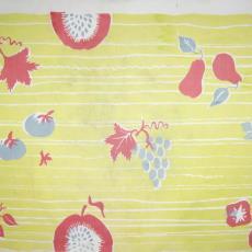 Gordijnstof 'Fruit' - Trude Guermonprez-Jalowetz, Het Paapje (Voorschoten), Textielmuseum (registratiefoto)