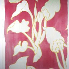 Gordijnfragment met motief 'Aronskelk' - Textielmuseum (registratiefoto), Textielmuseum (registratiefoto), Het Paapje (Voorschoten), Trude Guermonprez-Jalowetz