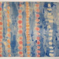 Kussensloop met vlekkenpatroon - Het Paapje (Voorschoten), Textielmuseum (registratiefoto), Hans Polak