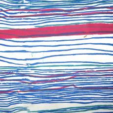 Gordijnstof met streeppatroon - C. Brouwers, Textielmuseum (registratiefoto), Het Paapje (Voorschoten)