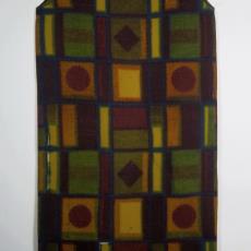 Jurk met blokkendessin - Het Paapje (Voorschoten), onbekend, Textielmuseum (registratiefoto)