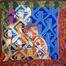 'Afrika (Zaïre)' - Atelier in India, Barbara Broekman