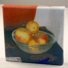 'Fruitschaaltje' - Wilma Kuil, Textielmuseum (registratiefoto)