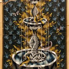 Ontwerptekeningen tapisserie 'La fontaine aux colombes' - Jean Picart le Doux, Handweverij De Knipscheer (Laren), Textielmuseum (registratiefoto)