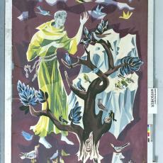 Ontwerptekeningen tapisserie 'Franciscus' - Textielmuseum (registratiefoto), Handweverij De Knipscheer (Laren)