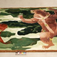 Ontwerptekening tapisserie 'Grote Beer en Kleine Beer' - Jaap Bouhuys, Handweverij De Knipscheer (Laren), Textielmuseum (registratiefoto)