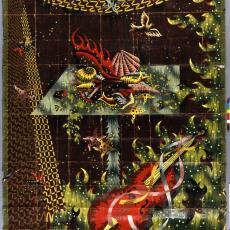 Ontwerptekening tapisserie 'Etoiles de Mer' - Textielmuseum (registratiefoto), Jean Picart le Doux, Handweverij De Knipscheer (Laren)
