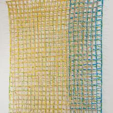 'Weerspiegeling 2' - Lam de Wolf, Textielmuseum (registratiefoto)