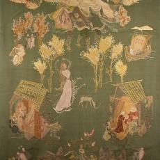 'Deirdre', geborduurd wandkleed - Ernee van der Linden-'t Hooft, Textielmuseum (registratiefoto), Textielmuseum (registratiefoto), Textielmuseum (registratiefoto), Textielmuseum (registratiefoto)