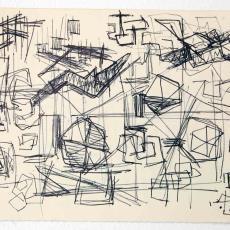 Schetsje met diverse motieven - Wil Fruytier, Textielmuseum (registratiefoto), Textielmuseum (registratiefoto)