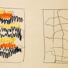 Schetsen voor wandkleed 'Fête' - Textielmuseum (registratiefoto), Wil Fruytier, Textielmuseum (registratiefoto), Textielmuseum (registratiefoto)