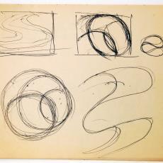 Gebundelde schetsen voor wandkleden - Wil Fruytier