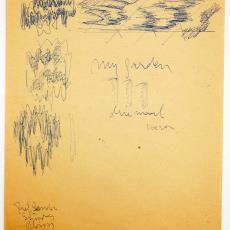 Schets voor wandkleed 'My garden' - Wil Fruytier