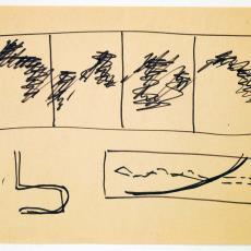 Schets voor polypropyleen wandkleed (?) - Textielmuseum (registratiefoto), Wil Fruytier