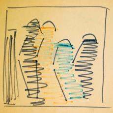 Schets voor wandkleed - Wil Fruytier, Textielmuseum (registratiefoto)