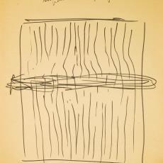 Schets voor wandkleed - Textielmuseum (registratiefoto), Wil Fruytier