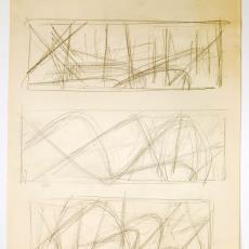 Schets voor wandkleed - Textielmuseum (registratiefoto), Textielmuseum (registratiefoto), Textielmuseum (registratiefoto), Wil Fruytier