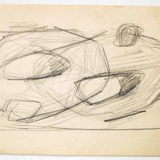 Schets voor geweven wandkleed - Textielmuseum (registratiefoto), Wil Fruytier