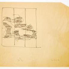 Schets voor driedelig wandkleed (z.t.) voor Zonnehuis Sanatorium, Doorn (?) - Wil Fruytier