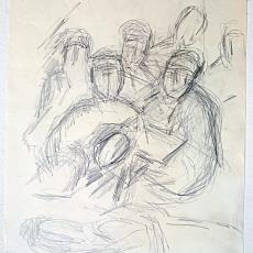 Diverse tekeningen: portretten en figuurstudies - Wil Fruytier