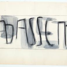 Ontwerpschets voor wandkleed - Wil Fruytier, Textielmuseum (registratiefoto), Textielmuseum (registratiefoto)