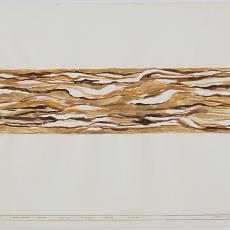 Ontwerptekening voor het touwkleed 'Zonder titel' voor de S.S. Statendam, Holland-Amerikalijn, Rotterdam - Textielmuseum (registratiefoto), Wil Fruytier