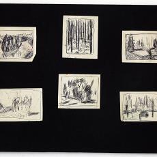 Kleine ontwerpschetsen voor wandkleden - Wil Fruytier