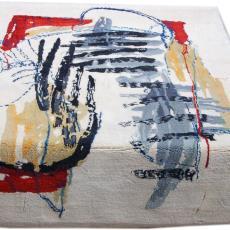 Wandkleed met abstract patroon - Nederlands Textielmuseum, Werner Moonen