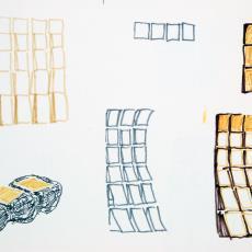Schetsblok met ontwerptekeningen - Textielmuseum (registratiefoto), Textielmuseum (registratiefoto), Anna Verwey-Verschuure, Textielmuseum (registratiefoto), Textielmuseum (registratiefoto)
