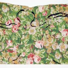 Studie op gebloemd behang - Textielmuseum (registratiefoto), Anna Verwey-Verschuure, Textielmuseum (registratiefoto), Textielmuseum (registratiefoto)