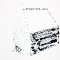 Schetsblok met ontwerptekeningen voor 'Het huis' - Anna Verwey-Verschuure, Textielmuseum (registratiefoto), Textielmuseum (registratiefoto), Textielmuseum (registratiefoto), Textielmuseum (registratiefoto), Textielmuseum (registratiefoto)