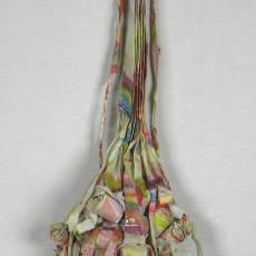 'Hoofdsier Poëzieplaatje', hoofdsieraad - Lam de Wolf, Textielmuseum (registratiefoto), Textielmuseum (registratiefoto), Textielmuseum (registratiefoto)