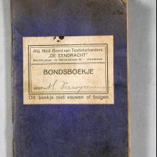 Bondsboekje Textielvakbond De Eendracht, afdeling Tilburg - Textielmuseum (registratiefoto), Textielmuseum (registratiefoto), Textielmuseum (registratiefoto), Textielmuseum (registratiefoto)